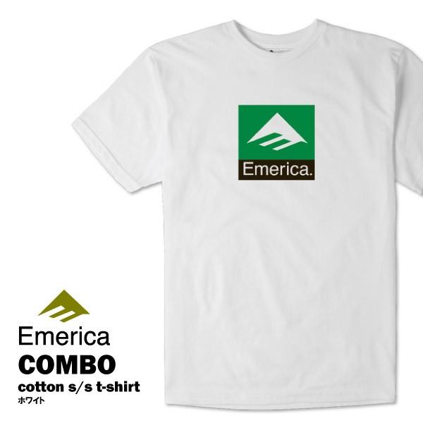 エメリカ コンボ S/S Tシャツ ホワイト スケート ...
