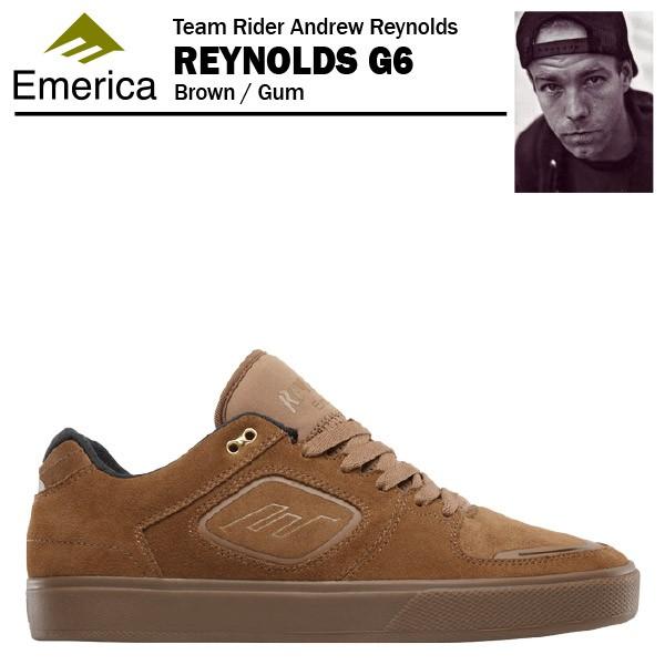 エメリカ レイノルズ G6 ブラウン/ガム スケート ...
