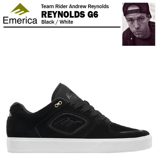 エメリカ レイノルズ G6 ブラック/ホワイト スケ...