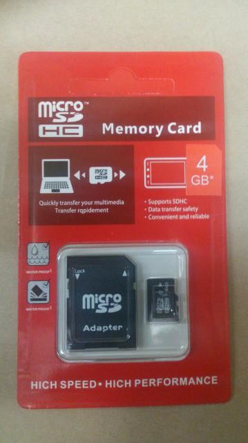 マイクロSDカード 4GB 変換アダプタ付き