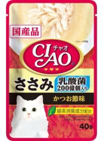 【いなばペット】チャオパウチ 乳酸菌入り ささ...