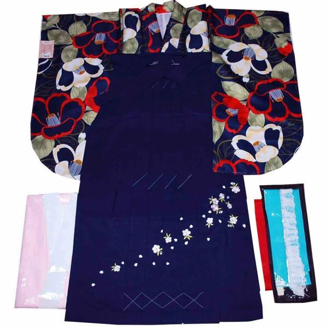 卒業式 着物 袴 5点 セット 二尺袖 長襦袢 袴 重...
