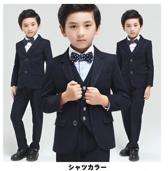 100〜160 男の子 スーツ 入学式 卒業式 秋冬 フォ...