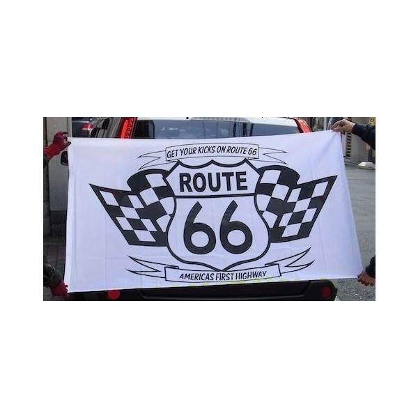 ルート66 ROUTE 66 ナイロンフラッグA 旗 ガレ...