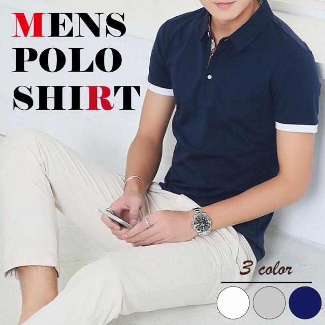 ポロシャツ Tシャツ メンズ 半袖 トップス カット...