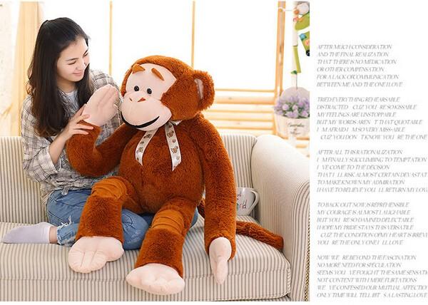 猿 ぬいぐるみ さる/サル抱き人形 モンキー 動...