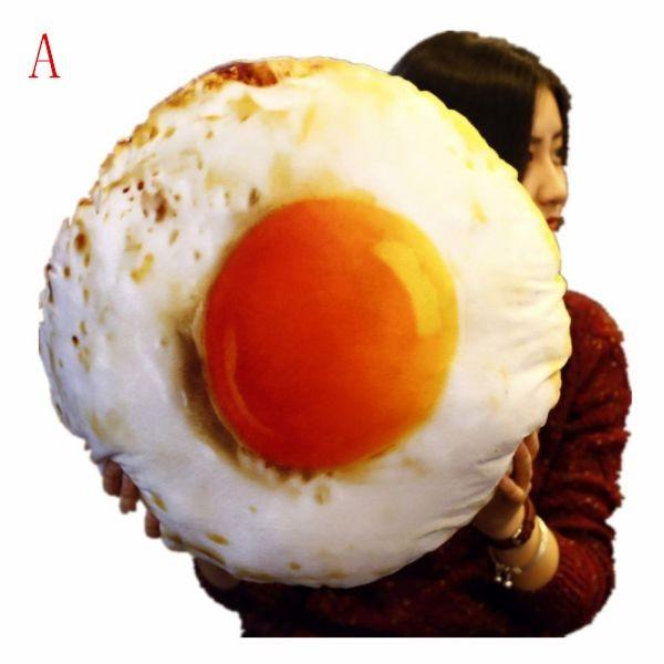 エッグ クッション 卵 インテリア プリント リア...