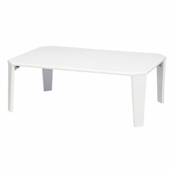 白い艶ありローテーブル 人気の鏡面ローテーブル9...