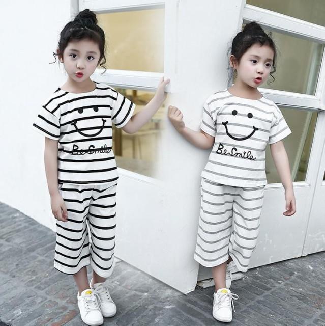 ファッション 夏着 子供セット 子供服 2点セット ...