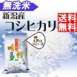 〔無洗米〕新潟産コシヒカリ5kg【平成28年産】