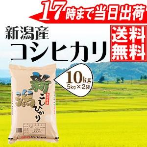 新潟県産コシヒカリ10kg(5kg×2袋) 28年産 送料無...