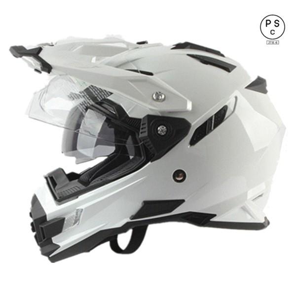 ダブルシールド バイクヘルメット オフロード ヘ...