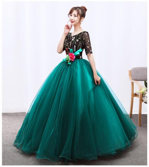 人気な演奏会用ロングドレス イブニングドレス 大...