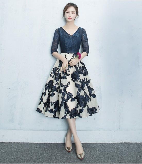 刺繍ワンピース Aライン ウェディングドレス ミモ...
