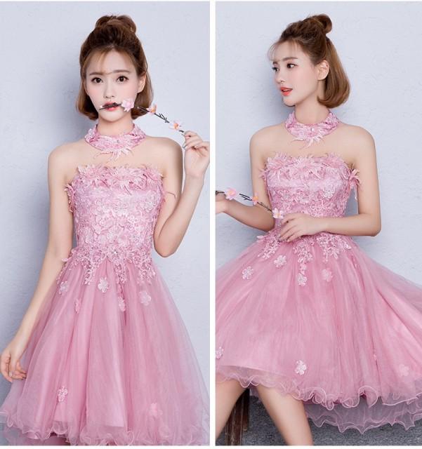 透し彫レースミニドレス  ウェディングドレス セ...