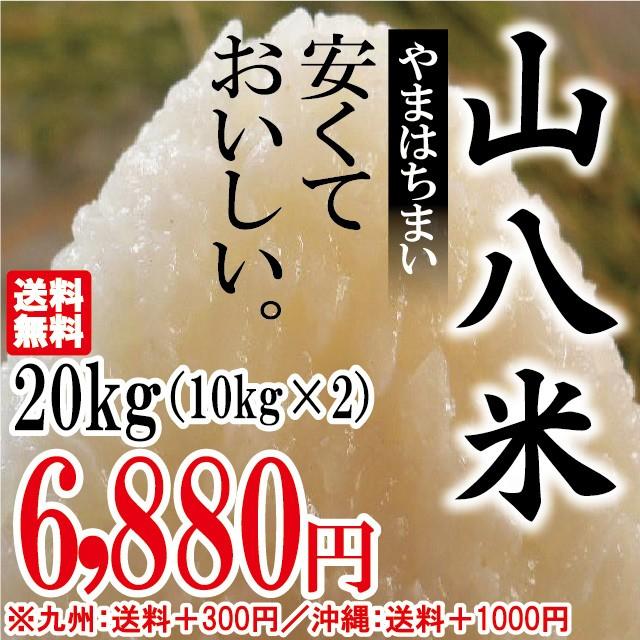 当店人気No.1 山八米 20kg(10kg×2)お米 安い ...