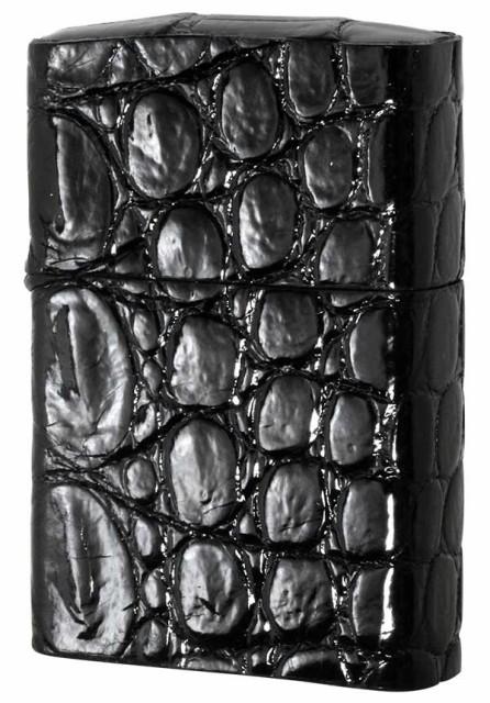 ZIPPO ジッポー クロコダイル革巻き・ブラック