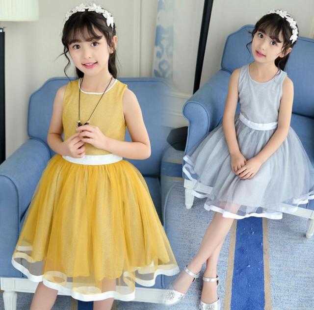 2色入荷 110-160CM 子供ドレス キッズドレス ...