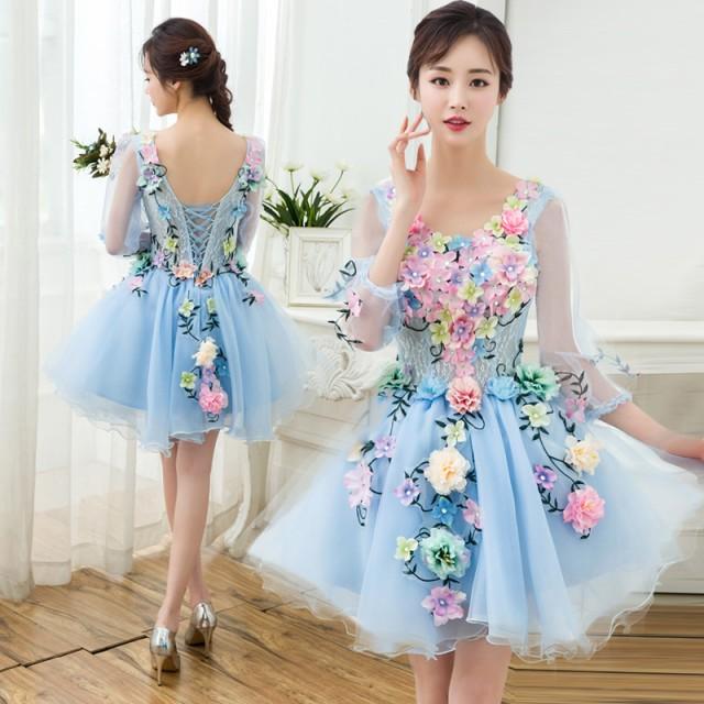 カラードレス  ミニドレス ウェディングドレス...