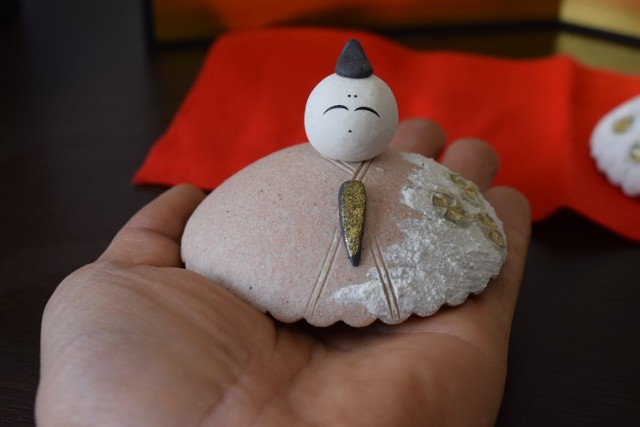 信楽 陶器の雛人形
