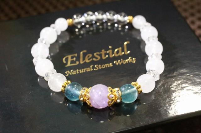 【Elestial】 『アメジストホワイト 』 天然石 フ...