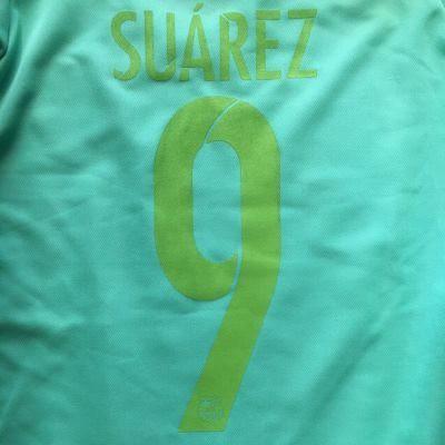 49f93b4049dade 子供用 K134 17 バルセロナ SUAREZ*9 スアレス メロン ゲームシャツ パンツ付 /サッカー