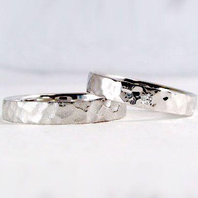 プラチナ ダイヤモンド ペアリング 結婚指輪 マリ...