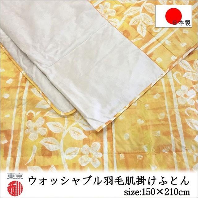 洗える 羽毛肌掛け布団 ダウンケットAQ0291 SL (...