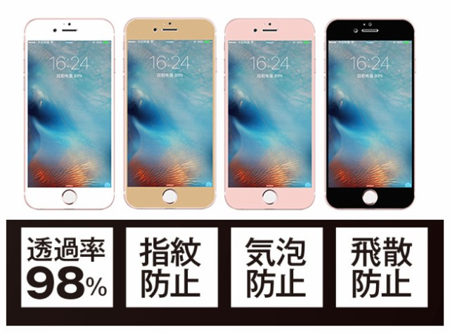 iPhone 8/iPhone7用角が割れないフレーム/曲面完...