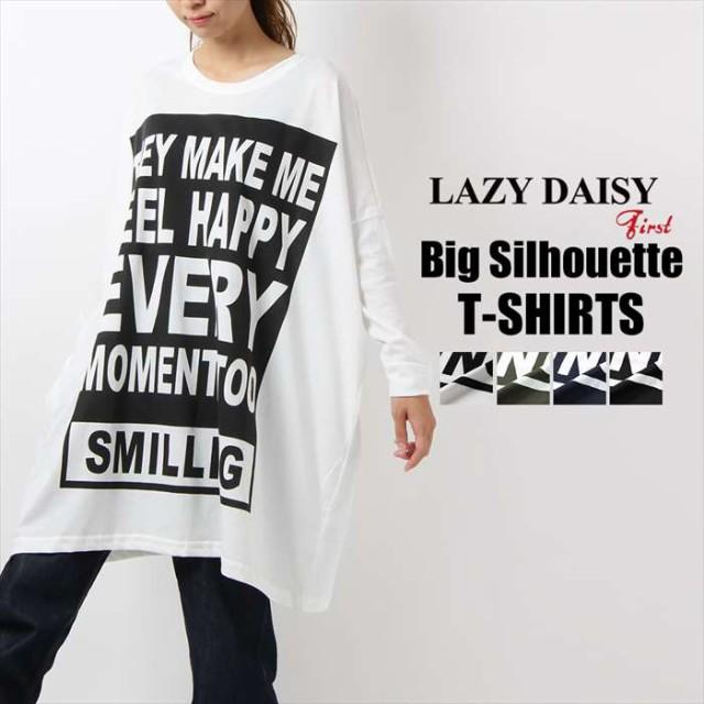LAZY DAISY 長袖   レディース 超ビッグTシャツ...