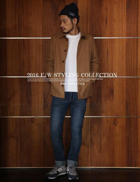 秋冬の流行スタイル!大人な雰囲気にキマるコート♪コート メンズ ジャケット メルトンウール ロングコート【コーデ】