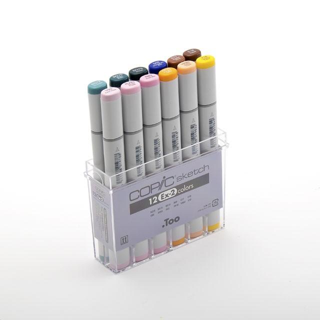 コピックスケッチ 12色セットEx-2