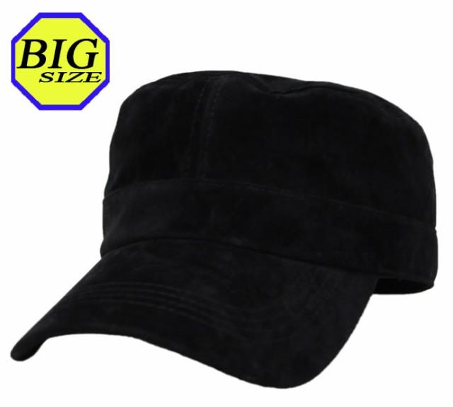 【大きいサイズ帽子メンズ 65cm】フェイクスエー...