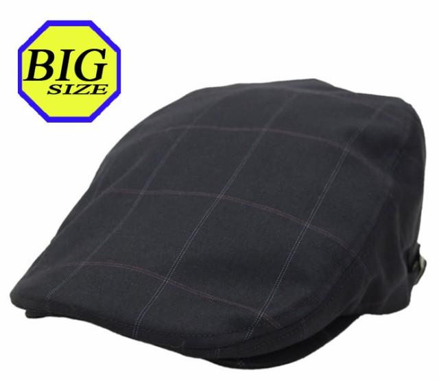 【大きいサイズ帽子 65cm】ウィンドチェック柄ハ...