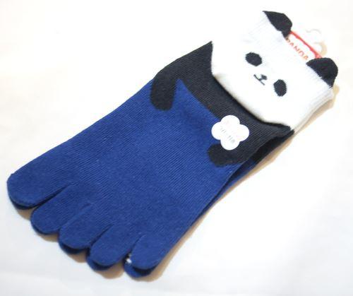 かかと パンダ 5本指ソックス 【T05033-NA】