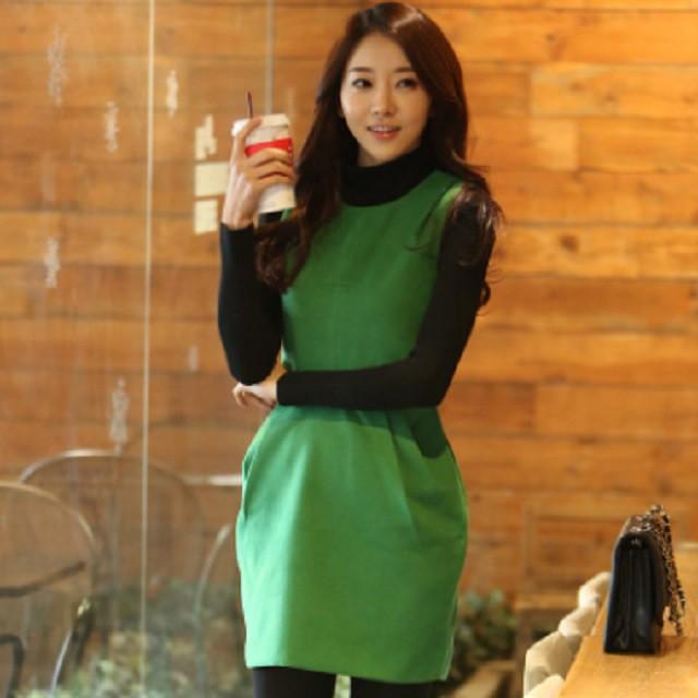 Mサイズ ドレス ワンピース 結婚式 二次会 緑 or...