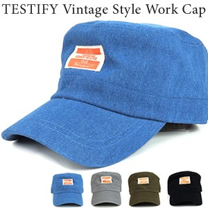 TESTIFY Vintage Style Work Cap ワークキャップ