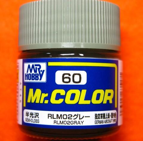 【遠州屋】 Mr.カラー (60) RLM02グレー 独空軍...