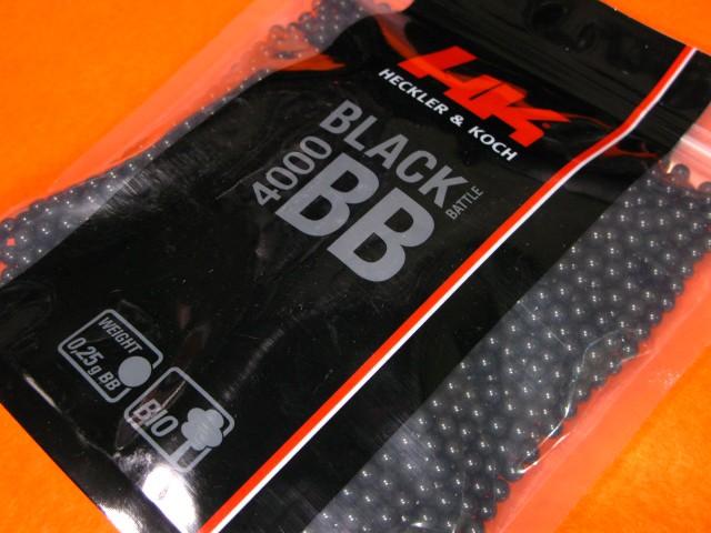 【遠州屋】 H&K BLACK BB弾 0.25g 4000発 BIO ブ...