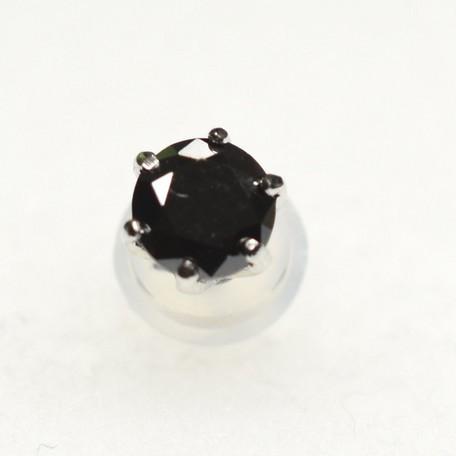【片耳ピアス】0.25ctブラックダイヤモンド プラ...