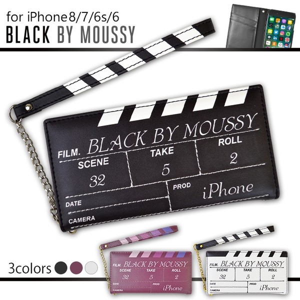 iPhone8 iPhone7/6s/6 【BLACK BY MOUSSY/ブラッ...