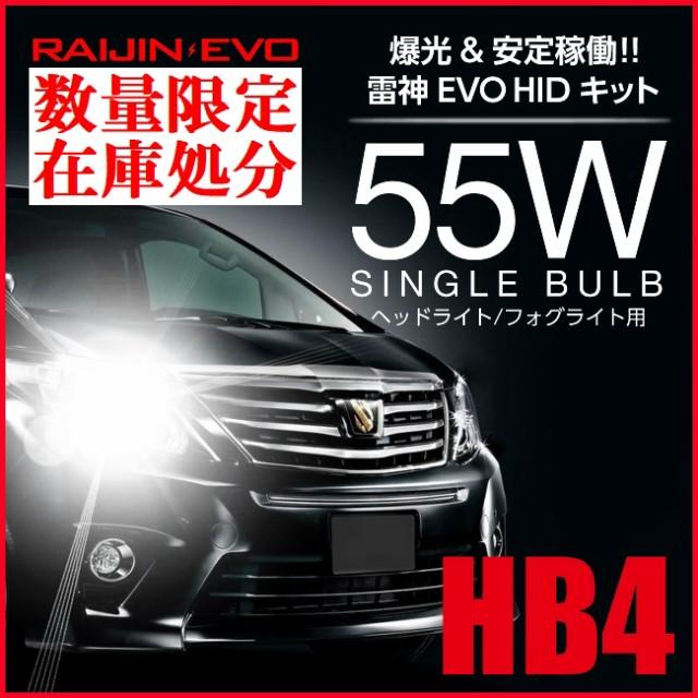 送料無料 HB4 HIDキット HB4 55W  RAIJIN EVO 600...