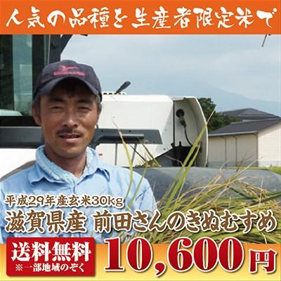 【送料無料】前田さんのきぬむすめ玄米30kg【29年...