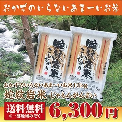 【28年産】【送料無料】蛇紋岩米10kg【じゃもん...