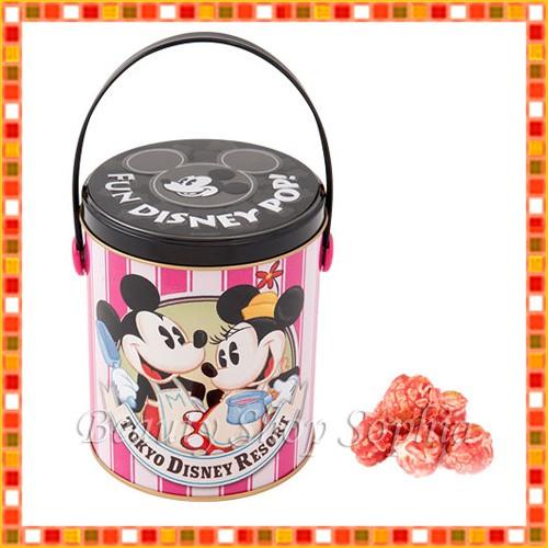 ミッキーマウス ミニーマウス 缶入りポップコーン...