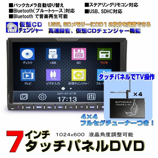 7インチタッチパネルDVDプレーヤー/CD12連装...