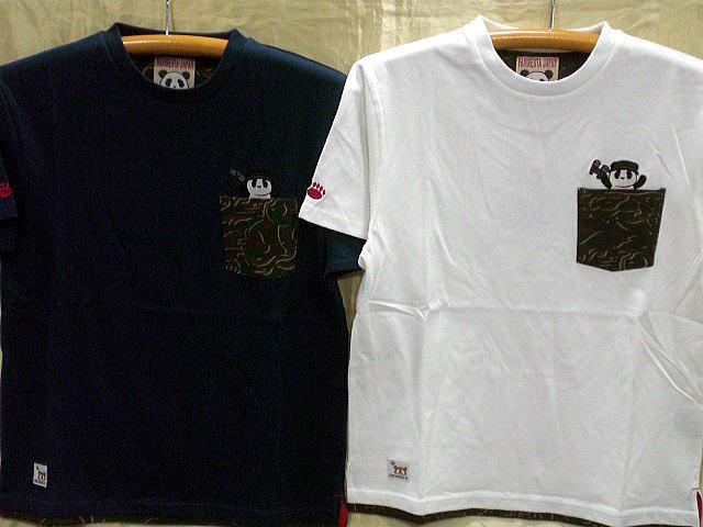 PANDIESTA JAPAN パンダーカモ切替 半袖Tシャツ ...