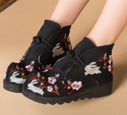 2点送料無料 パンプス靴/刺繍靴 婦人靴 中国風...