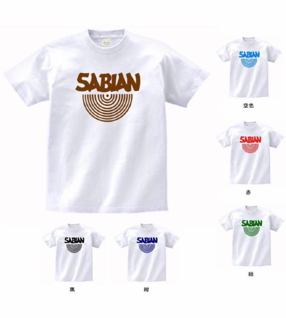 バンド ロック Tシャツ  SABIAN 白 MLサイズ ...