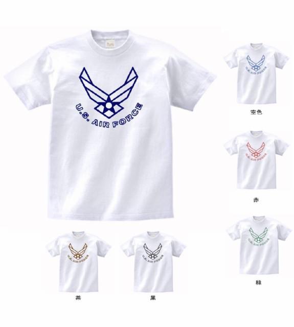 デザインTシャツ アーミー US AIR FORCE  白 M...